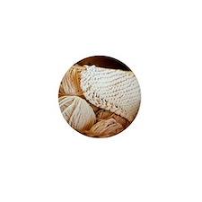 Organic Wool Mini Button