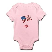 Old Glory Personalized July 4 Pop Body Suit