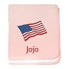 Old Glory Personalized July 4 Pop Baby Blanket