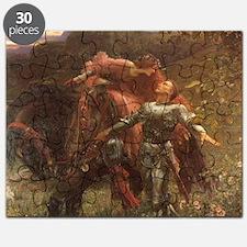 La belle dame sans merci: illustration Puzzle