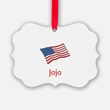 Old Glory Personalized July 4 Pop Ornament