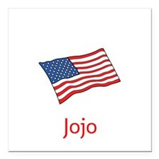 """Old Glory Personalized Square Car Magnet 3"""" X"""
