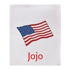 Old Glory Personalized July 4 Pop Throw Blanket