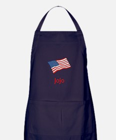 Old Glory Personalized July 4 Pop Apron (dark)