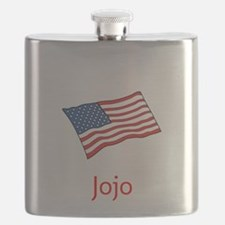 Old Glory Personalized July 4 Pop Flask