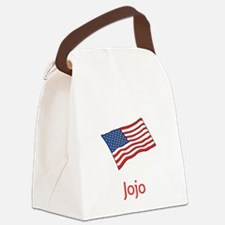 Old Glory Personalized July 4 Pop Canvas Lunch Bag