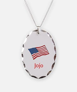 Old Glory Personalized July 4 Necklace