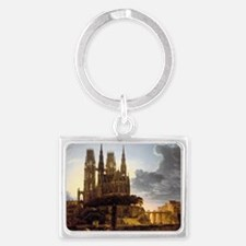 Medieval town Keychains