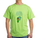 Statistics teacher Green T-Shirt