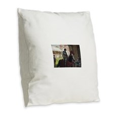 Vanquished Knight Burlap Throw Pillow