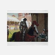 Vanquished Knight Throw Blanket