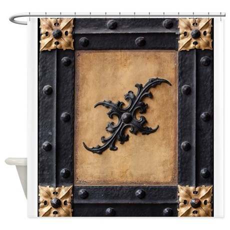 Middle Ages Door Shower Curtain By HomeDecor2