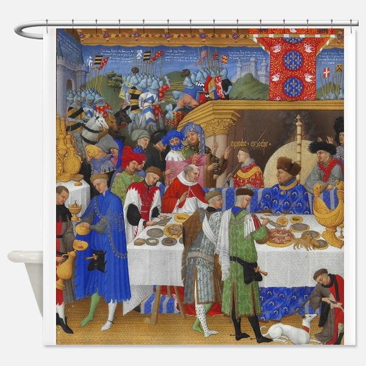 Medieval Illustration Shower Curtain