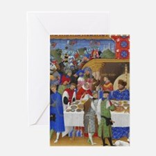 Medieval illustration Greeting Cards