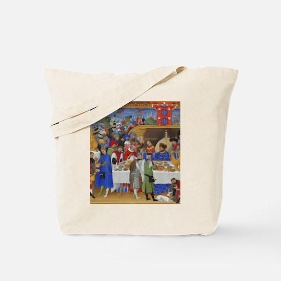 Medieval illustration Tote Bag