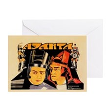 Aelita, Queen Of Mars 1924 Card Greeting Cards