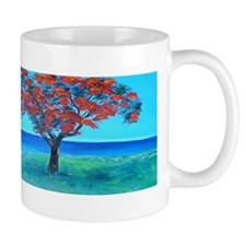 Flamboyan Overlooking Ocean Mugs