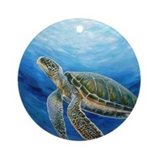 Sea Turtle Round Ornament