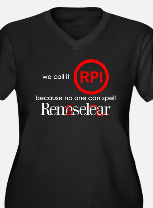 No One Can Spell Rensselear Plus Size T-Shirt