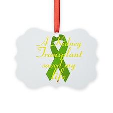 A Kidney Transplant saved my Life Ornament