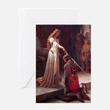 Middle Ages Accolade of Knight Greeting Cards