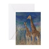 Giraffe Greeting Cards