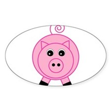 Cute Pink Pig Decal