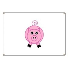 Cute Pink Pig Banner