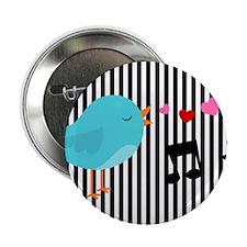 """Singing Blue Bird 2.25"""" Button"""
