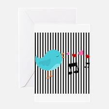 Singing Blue Bird Greeting Cards