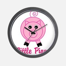 Little Piggy Pink Pig Wall Clock
