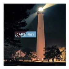 """Cape May. Square Car Magnet 3"""" x 3"""""""
