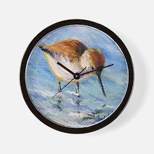 Wading Sandpiper Wall Clock