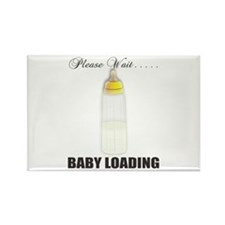 Please Wait..Baby Loading Rectangle Magnet