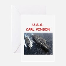 uss carl vinson Greeting Cards