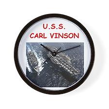 uss carl vinson Wall Clock