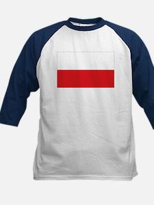 Polish flag Kids Baseball Jersey