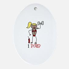 I Pump Ornament (Oval)