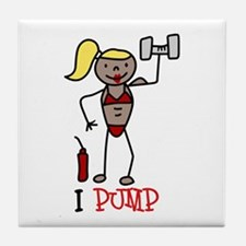 I Pump Tile Coaster