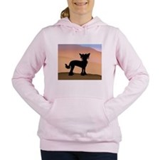 Chinese Crested Desert Hills Women's Hooded Sweats