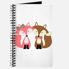 Pink and Brown Fox Couple Journal