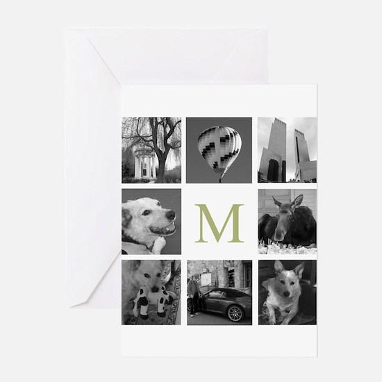 Monogram and Photoblock Greeting Cards