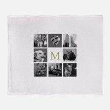 Monogrammed Photo Block Throw Blanket