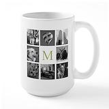 Custom block Large Mugs (15 oz)
