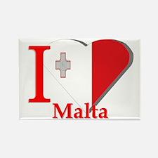 I love Malta Rectangle Magnet