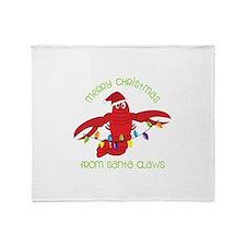 Merry Christmas for santa claws Throw Blanket