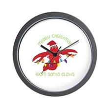 Merry Christmas for santa claws Wall Clock