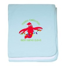 Merry Christmas for santa claws baby blanket