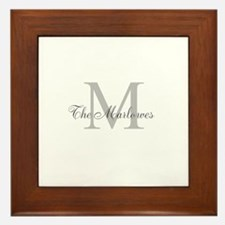 Monogrammed Duvet Cover Framed Tile