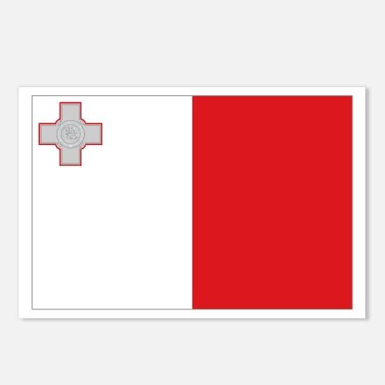 Maltese flag Postcards (Package of 8)